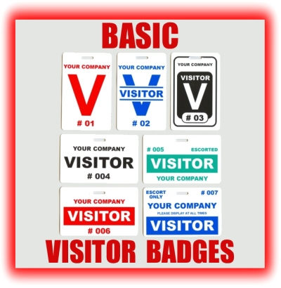 basic visitor badges