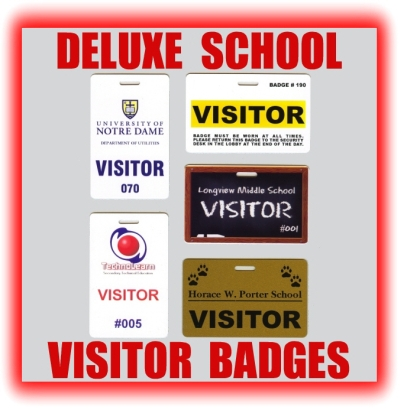 SCHOOL VISITOR BADGES - Visitor badge template