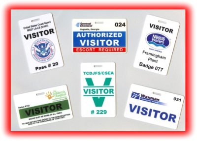 HOME - Visitor badge template