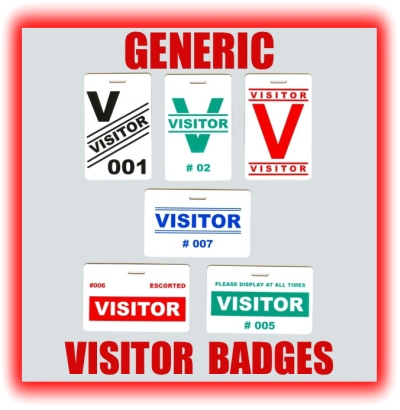 GENERIC VISITOR BADGES - Visitor badge template