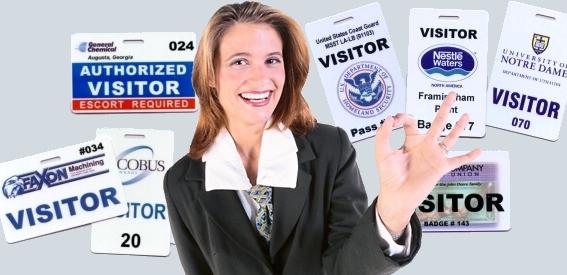 school visitor badges
