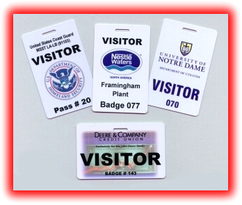 DELUXE VISITOR BADGES - Visitor badge template